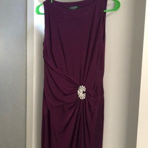 Purple tone dress with embellishment . Worn once